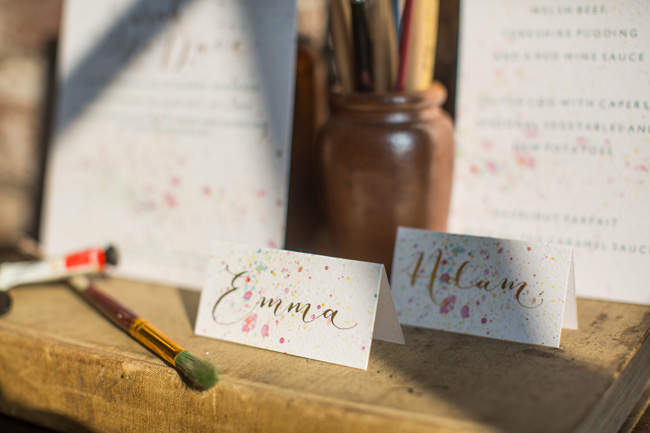 Watercolor wedding style ideas with the Little Wedding Helper, image credit Evoke Photography (12)
