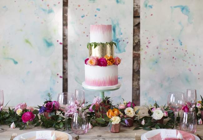 Watercolor wedding style ideas with the Little Wedding Helper, image credit Evoke Photography (1)