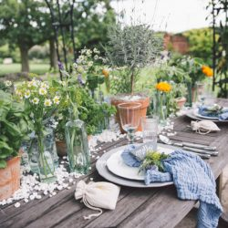 Herbal wedding styling from Gaynes Park with Bohotanical, images by Cristina Rossi Photography
