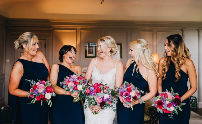 Vibrant florals and classic English styling for a Thornton Manor wedding, images by Rachel Joyce Photography (13)