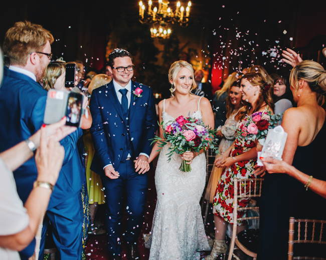 Vibrant florals and classic English styling for a Thornton Manor wedding, images by Rachel Joyce Photography (21)