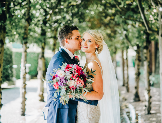 Vibrant florals and classic English styling for a Thornton Manor wedding, images by Rachel Joyce Photography (23)