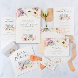 Luxury fine art wedding stationery by Pingle Pie