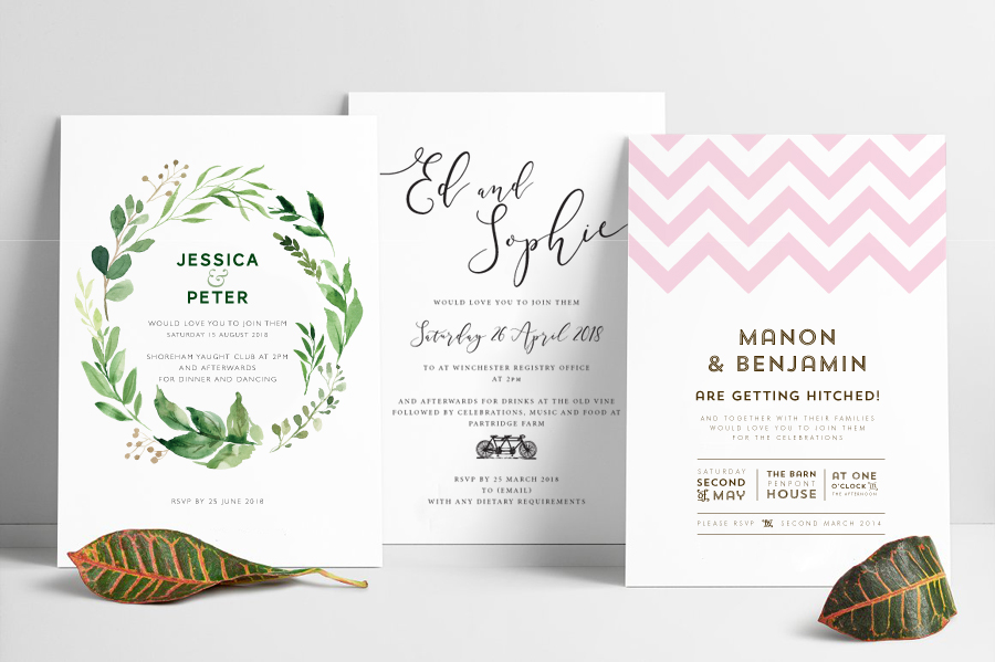 Contemporary wedding invitations and stationery by Olive Weddings on the English Wedding Blog (1)
