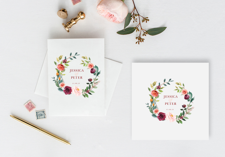 Contemporary wedding invitations and stationery by Olive Weddings on the English Wedding Blog (4)