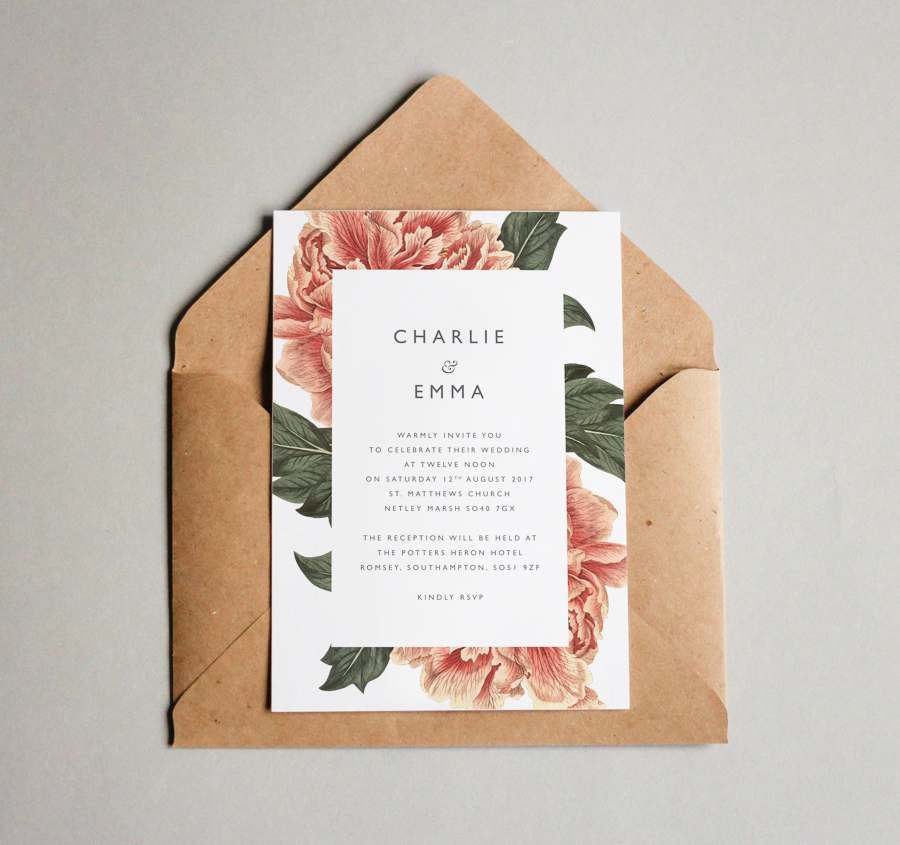 Contemporary wedding invitations and stationery by Olive Weddings on the English Wedding Blog (2)
