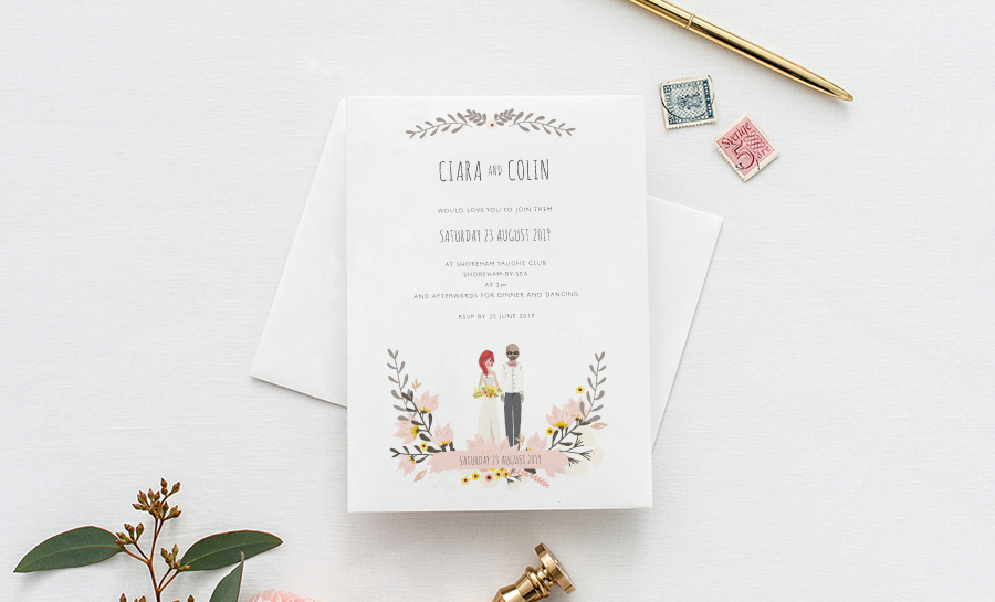 Contemporary wedding invitations and stationery by Olive Weddings on the English Wedding Blog (5)