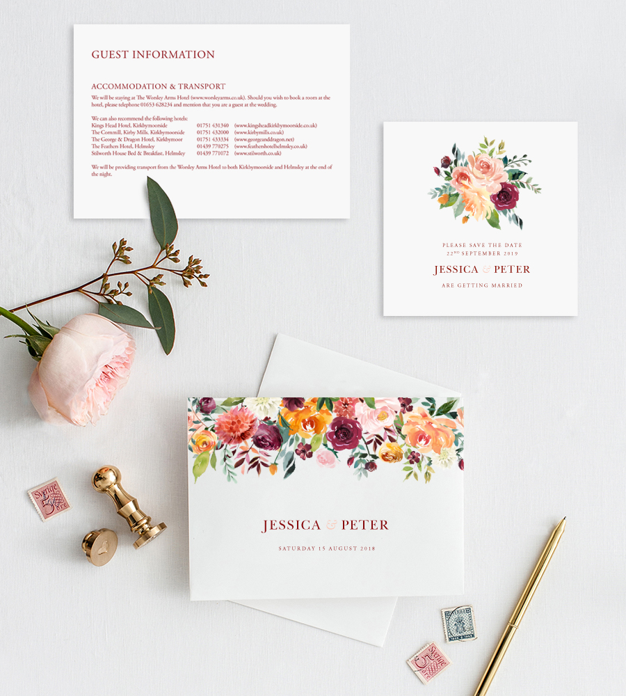 Contemporary wedding invitations and stationery by Olive Weddings on the English Wedding Blog (6)