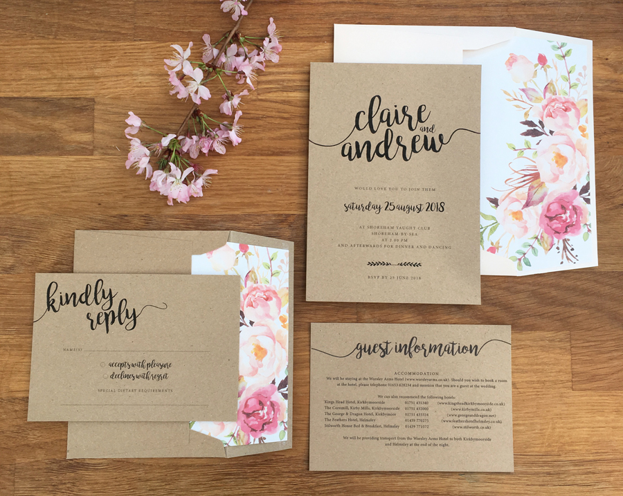 Contemporary wedding invitations and stationery by Olive Weddings on the English Wedding Blog (11)
