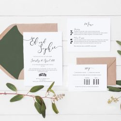 Beautiful wedding invitations and stationery by Olive Weddings