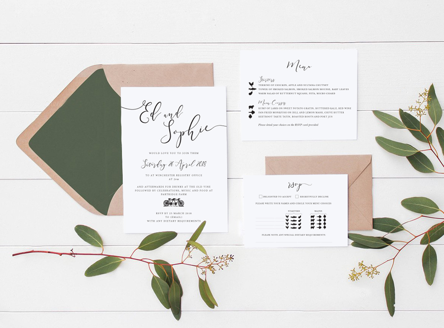 Contemporary wedding invitations and stationery by Olive Weddings on the English Wedding Blog (13)