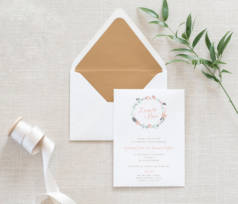Contemporary wedding invitations and stationery by Olive Weddings on the English Wedding Blog (14)