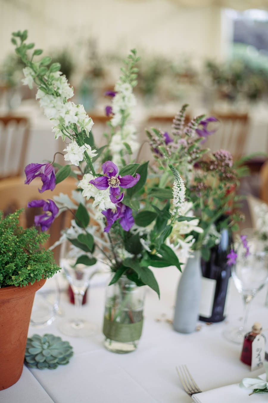 Gorgeous purple flowers for a summer wedding with Delicious Photography (5)
