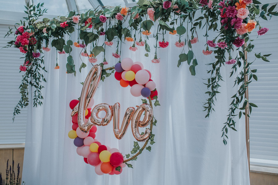 Bright, whimsical, boho wedding styling ideas with balloons, images by Sarah Maria Photography (3)