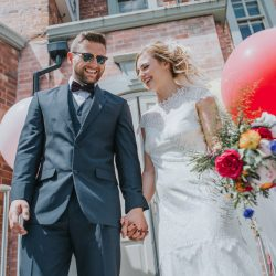 Alternative, bright wedding styling with pops of colour from The Faversham in Leeds