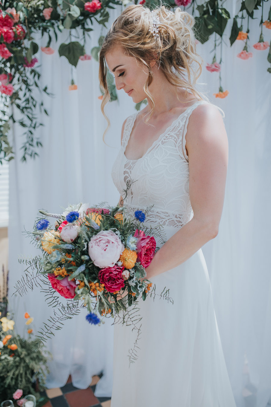 Bright, whimsical, boho wedding styling ideas with balloons, images by Sarah Maria Photography (19)
