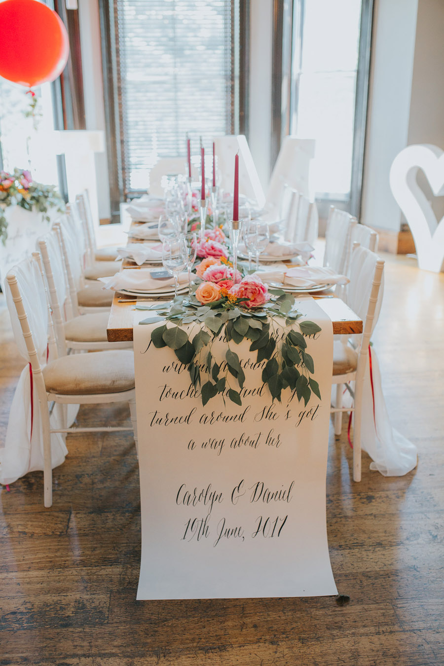 Bright, whimsical, boho wedding styling ideas with balloons, images by Sarah Maria Photography (28)