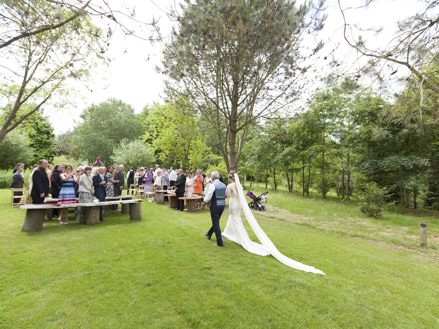 Outdoor wedding in Worcestershire, Bodenham Arboretum - Clive Blair Photography on the English Wedding Blog (10)