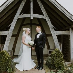 Lizzie and Chris's gorgeous Kingscote Barn wedding, with Christy Blanch Photography