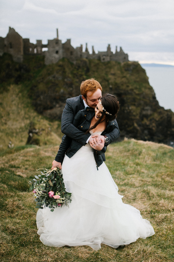 Dunluce Castle elopement Northern Ireland Antrim, images by Luke Flint Media on the English Wedding Blog (10)