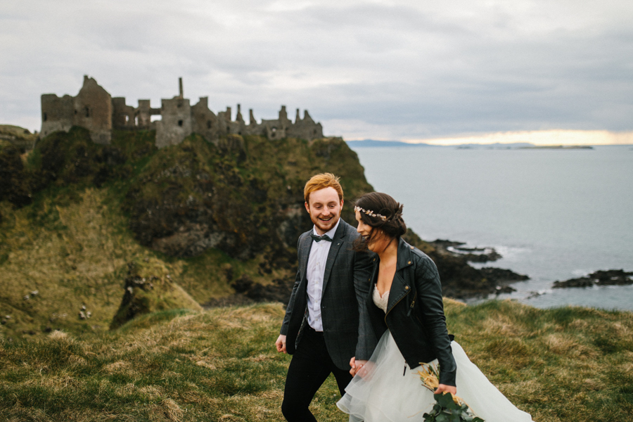 Dunluce Castle elopement Northern Ireland Antrim, images by Luke Flint Media on the English Wedding Blog (17)