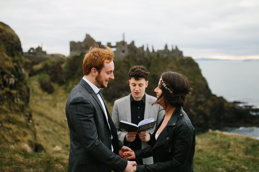 Dunluce Castle elopement Northern Ireland Antrim, images by Luke Flint Media on the English Wedding Blog (18)