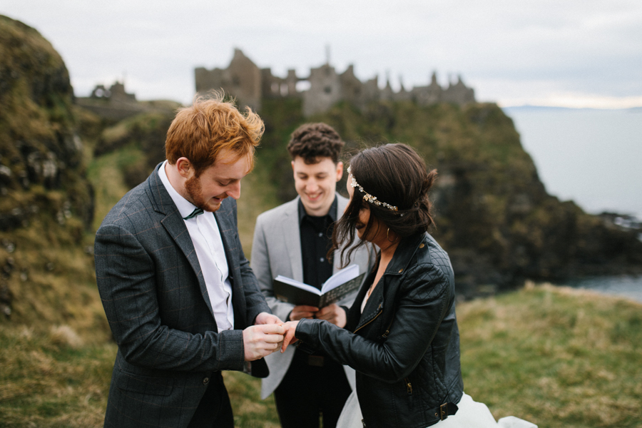 Dunluce Castle elopement Northern Ireland Antrim, images by Luke Flint Media on the English Wedding Blog (21)
