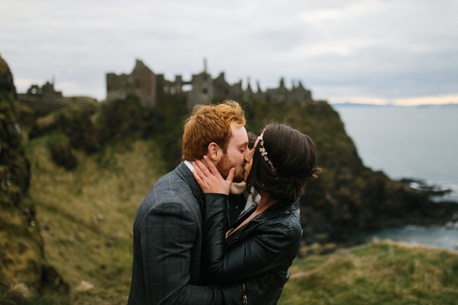 Dunluce Castle elopement Northern Ireland Antrim, images by Luke Flint Media on the English Wedding Blog (22)