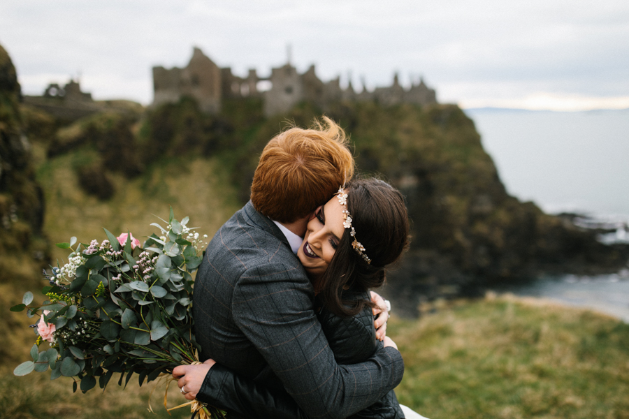 Dunluce Castle elopement Northern Ireland Antrim, images by Luke Flint Media on the English Wedding Blog (24)