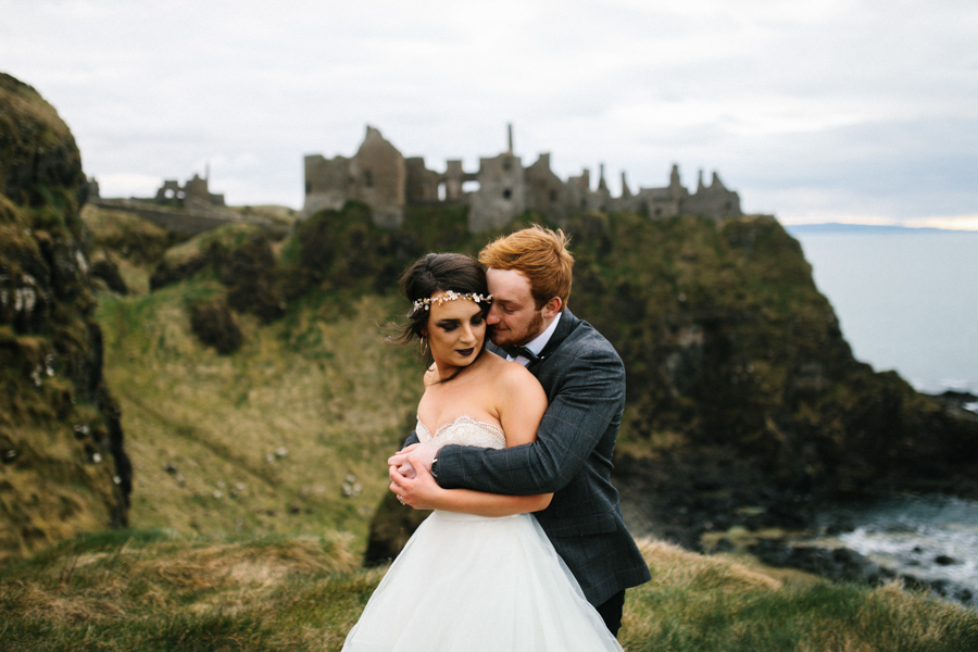 Dunluce Castle elopement Northern Ireland Antrim, images by Luke Flint Media on the English Wedding Blog (26)