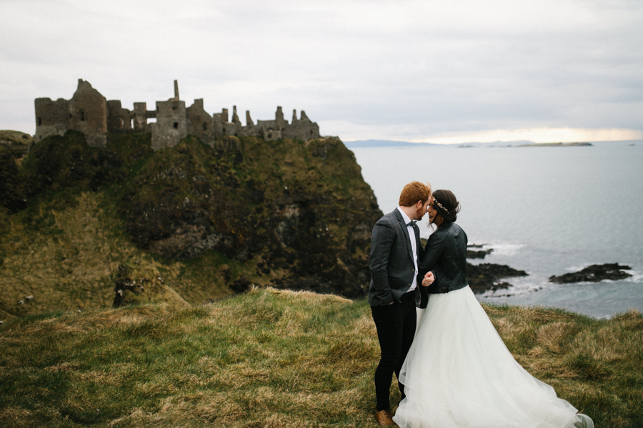 Dunluce Castle elopement Northern Ireland Antrim, images by Luke Flint Media on the English Wedding Blog (27)