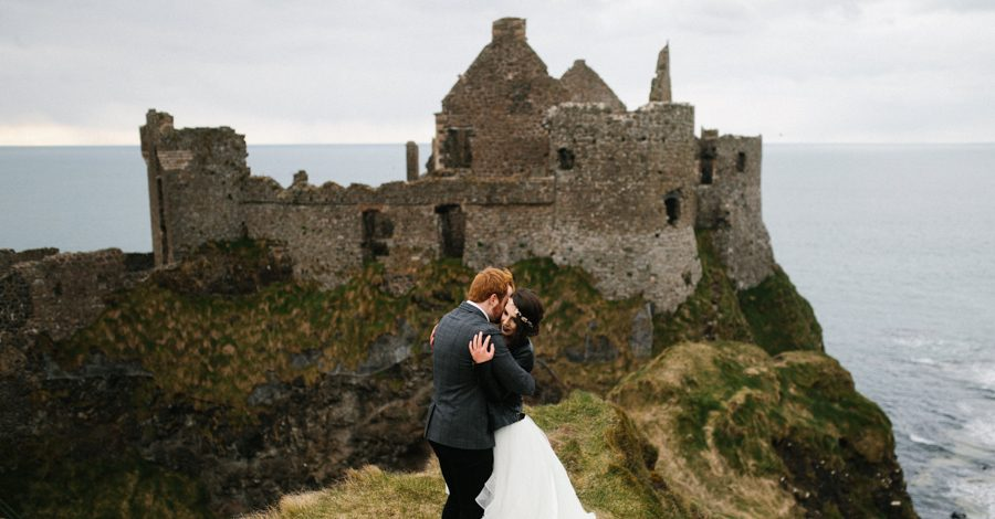 Dunluce Castle elopement Northern Ireland Antrim, images by Luke Flint Media on the English Wedding Blog (30)