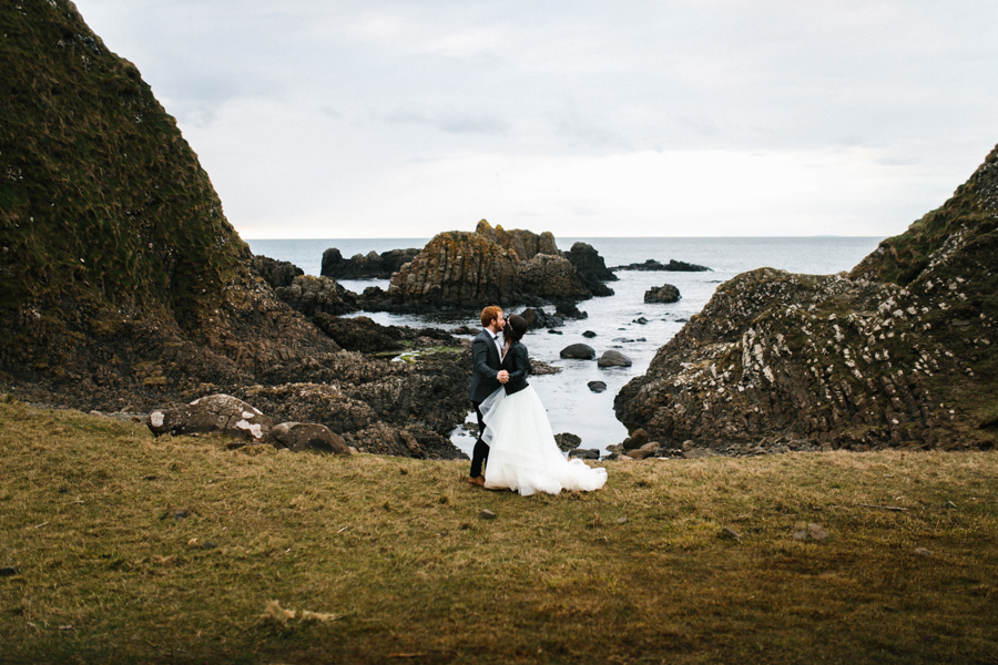 Dunluce Castle elopement Northern Ireland Antrim, images by Luke Flint Media on the English Wedding Blog (35)