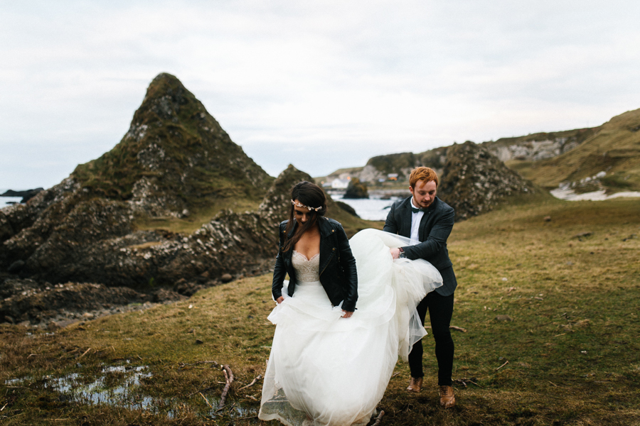 Dunluce Castle elopement Northern Ireland Antrim, images by Luke Flint Media on the English Wedding Blog (36)