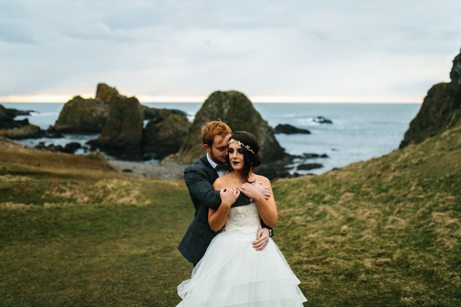 Dunluce Castle elopement Northern Ireland Antrim, images by Luke Flint Media on the English Wedding Blog (37)