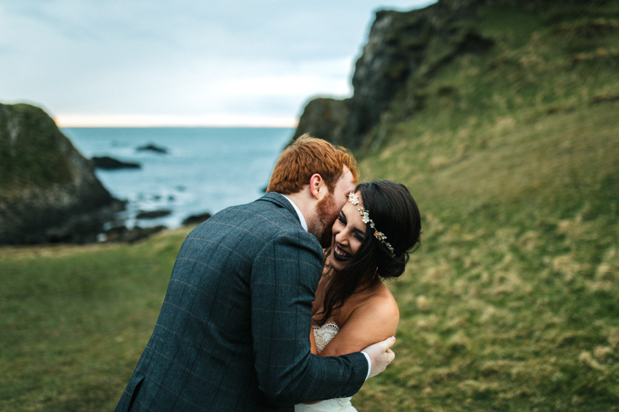 Dunluce Castle elopement Northern Ireland Antrim, images by Luke Flint Media on the English Wedding Blog (38)