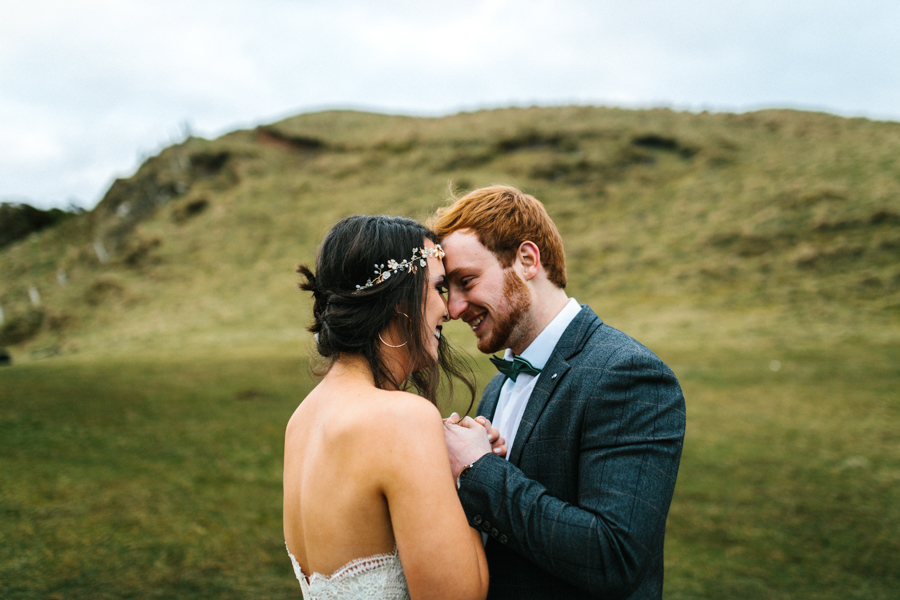 Dunluce Castle elopement Northern Ireland Antrim, images by Luke Flint Media on the English Wedding Blog (39)