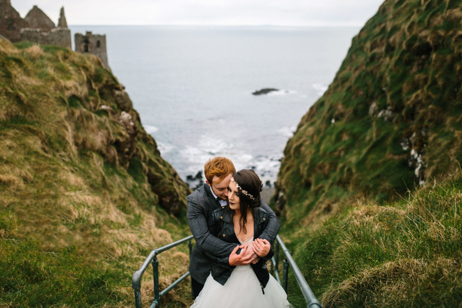 Dunluce Castle elopement Northern Ireland Antrim, images by Luke Flint Media on the English Wedding Blog (8)