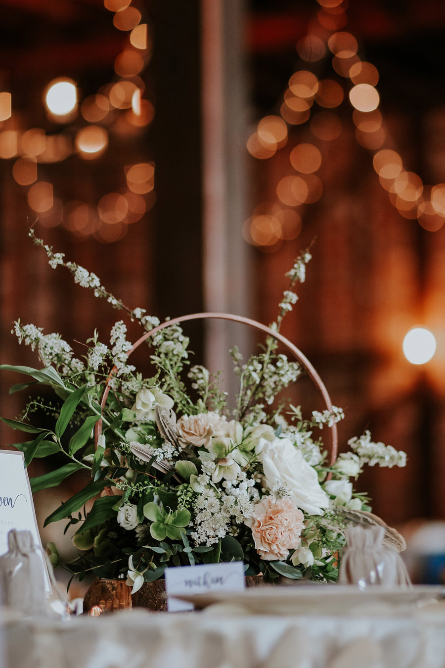 Marks Hall wedding styling in rustic peach, favours by Gilded Fern and photo by Olivia Knight (8)