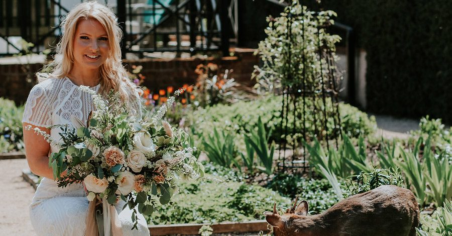 Marks Hall wedding styling in rustic peach, favours by Gilded Fern and photo by Olivia Knight (31)