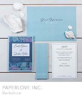 Berkshire wedding invitations by PaperLove inc.