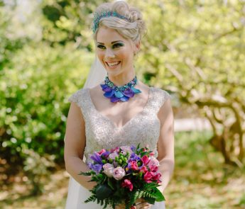 Teal and purple peacock wedding ideas by planner Karen Luxford, image by Sarah Wayte Photography (7)