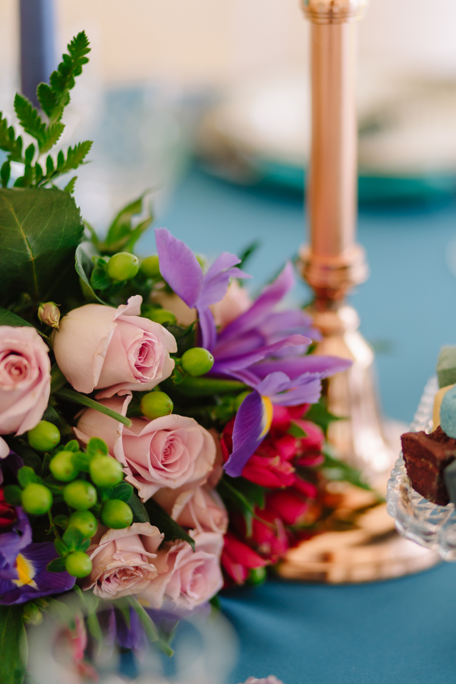Teal and purple peacock wedding ideas by planner Karen Luxford, image by Sarah Wayte Photography (22)