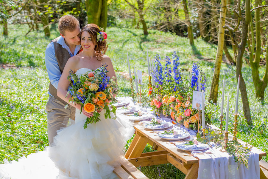 Cassandra June wedding stylist bluebell theme ideas, photography by Craig Payne (20)