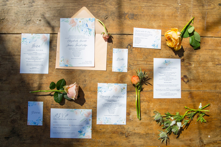 Cassandra June wedding stylist bluebell theme ideas, photography by Craig Payne (17)