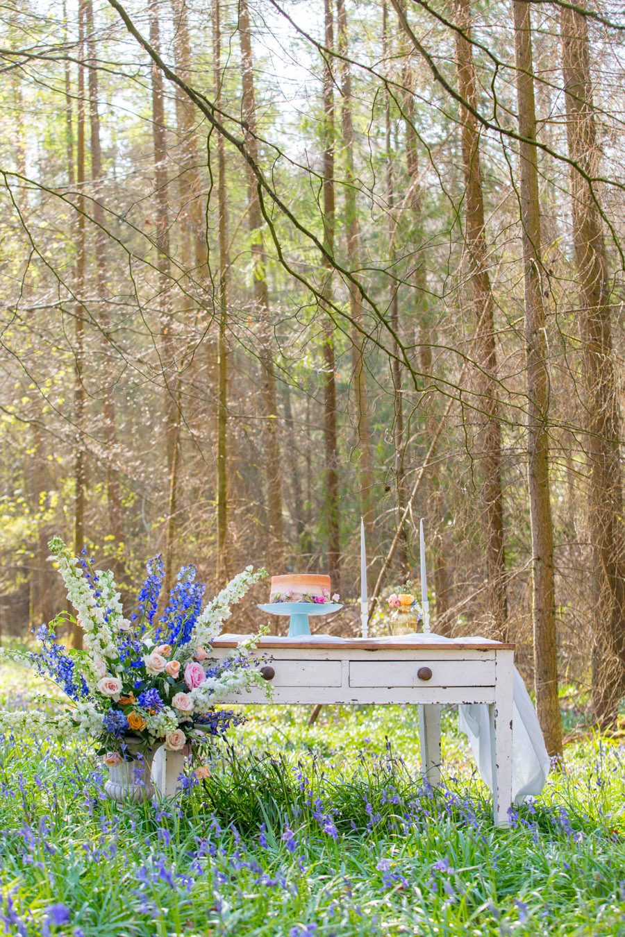 Cassandra June wedding stylist bluebell theme ideas, photography by Craig Payne (9)