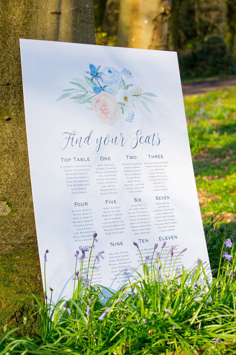 Cassandra June wedding stylist bluebell theme ideas, photography by Craig Payne (1)