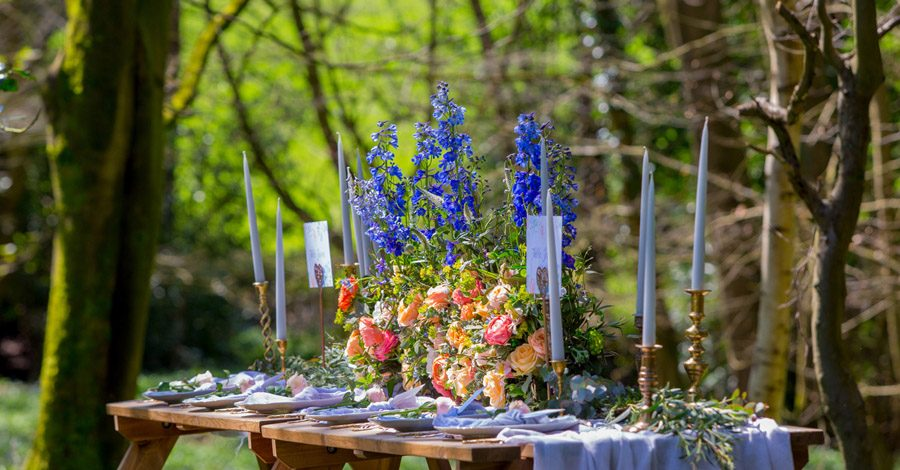 Cassandra June wedding stylist bluebell theme ideas, photography by Craig Payne (25)