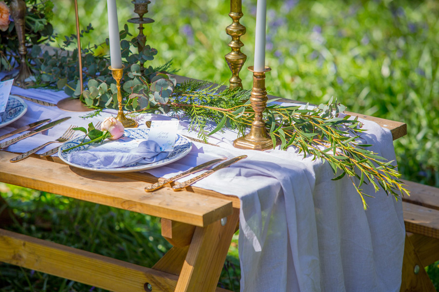 Cassandra June wedding stylist bluebell theme ideas, photography by Craig Payne (29)