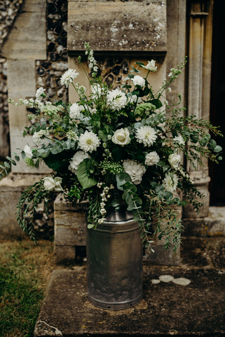 white and green for a gorgeous summer marquee wedding in Herefordshire, images by Richard Skins Photography (2)
